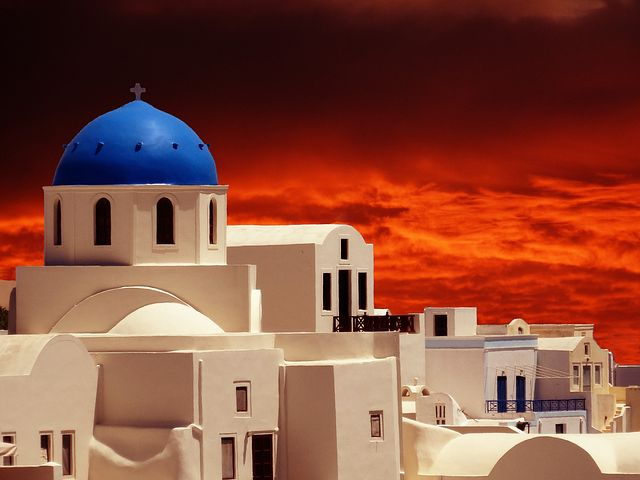 Sunset Oia Rouge